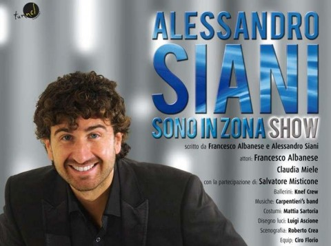 alessandro siani-sono in zona show-foro italico-roma
