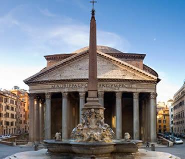 Il pantheon è un edificio della roma antica costruito fra il 27 e il